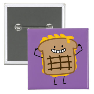 Grilled Cheese Sandwich Cheddar Toasted Bread Pinback Button