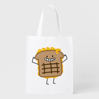 Grilled Cheese Sandwich Cheddar Toasted Bread Reusable Grocery Bag