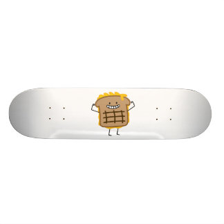 Grilled Cheese Sandwich Cheddar Toasted Bread Skateboard Deck