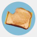 Grilled Cheese Sandwich Classic Round Sticker