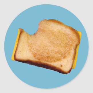 Grilled Cheese Sandwich Classic Round Sticker