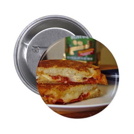 Grilled Cheese Sandwiches 2 Inch Round Button