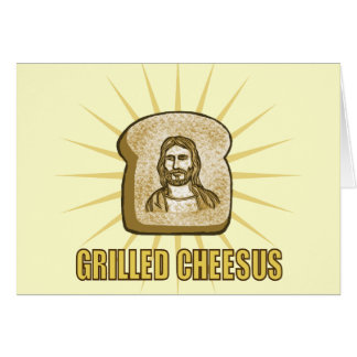 Grilled Cheesus notecards Card