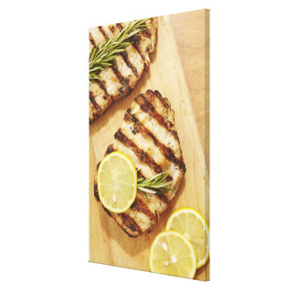 Grilled Chicken Breasts Canvas Print