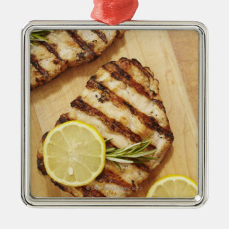 Grilled Chicken Breasts Metal Ornament