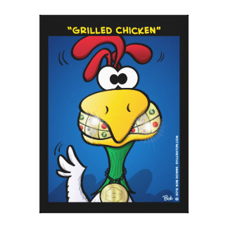 """Grilled Chicken"" Canvas Prints"