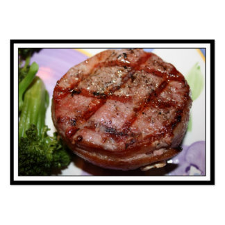 Grilled Filet Mignon Large Business Cards (Pack Of 100)