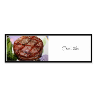 Grilled Filet Mignon Double-Sided Mini Business Cards (Pack Of 20)