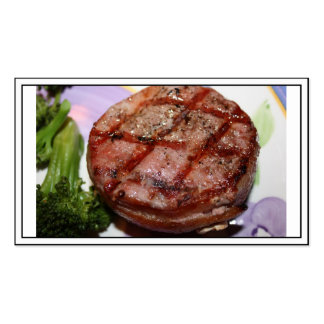 Grilled Filet Mignon Double-Sided Standard Business Cards (Pack Of 100)