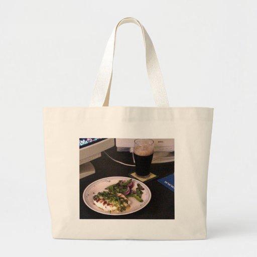 Grilled Halibut With Green Chili Sauce On Computer Jumbo Tote Bag
