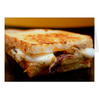 Grilled Mozzarella Sandwich with Smoky Eggplant Stationery Note Card