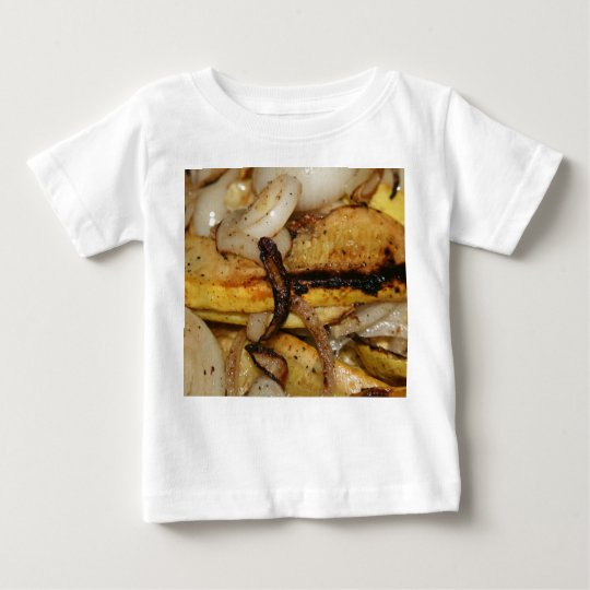 Grilled onion slices and yellow squash pieces baby T-Shirt