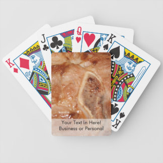 Grilled pork chop with bone food image bicycle playing cards