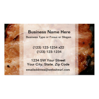 Grilled pork chop with bone food image business card