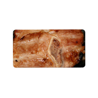 Grilled pork chop with bone food image labels