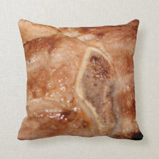 Grilled pork chop with bone food image pillow