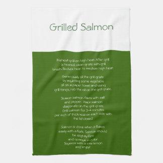 Grilled Salmon Recipe towel