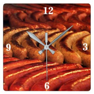 Grilled Sausage Clock