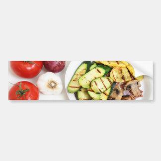 Grilled Squash And Mushrooms Bumper Sticker
