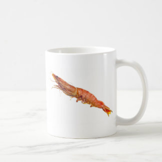 Grilled tiger prawn on a skewer coffee mug