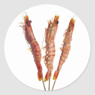 Grilled tiger prawn on a skewer stickers