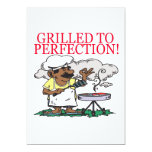 "Grilled To Perfection 5"" X 7"" Invitation Card"