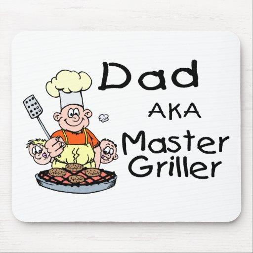 Griller principal del papá alfombrilla de raton