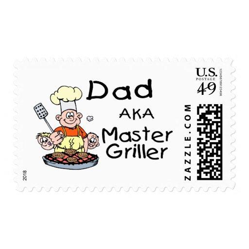 Griller principal del papá sello