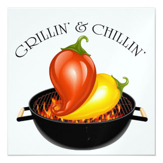 Grillin' and Chillin' Invitation
