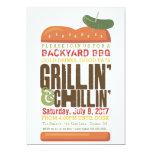 Grillin Chillin BBQ Invitation, Burger Barbecue Card