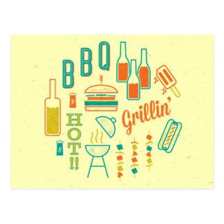Grillin' Hot BBQ Postcard