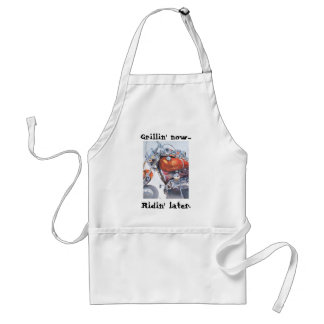 Grillin' now...ridin' later adult apron