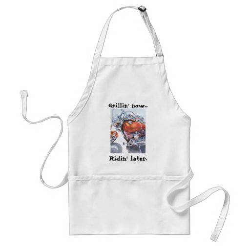 Grillin' now...ridin' later aprons