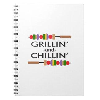 GRILLIN Y CHILLIN LIBRETA ESPIRAL