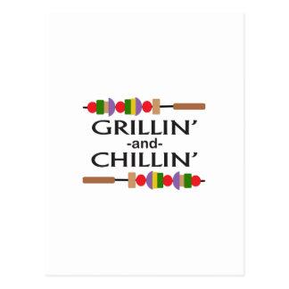 GRILLIN Y CHILLIN POSTAL