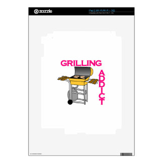 Grilling Addict Decals For The iPad 2