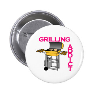 Grilling Addict Pinback Button