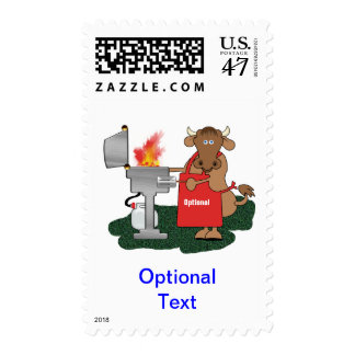 Grilling Cow - Customize Postage