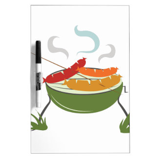 Grilling Dogs Dry Erase Board