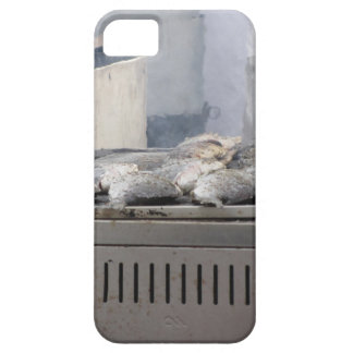 Grilling fish outdoors with smoke emerging iPhone SE/5/5s case
