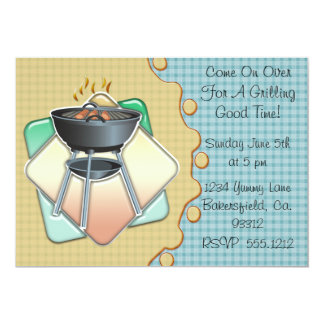 Grilling Good Time 5x7 Paper Invitation Card