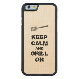Grilling Keep Calm and Grill On Barbecue Spatula Carved® Maple iPhone 6 Bumper