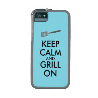 Grilling Keep Calm and Grill On Barbecue Spatula iPhone 5 Cases