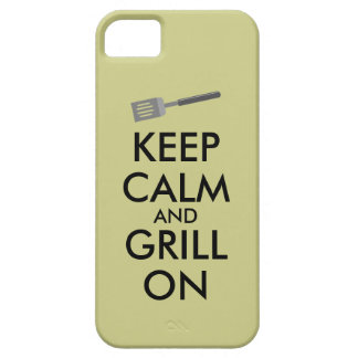 Grilling Keep Calm and Grill On Barbecue Spatula iPhone SE/5/5s Case