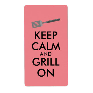 Grilling Keep Calm and Grill On Barbecue Spatula Label