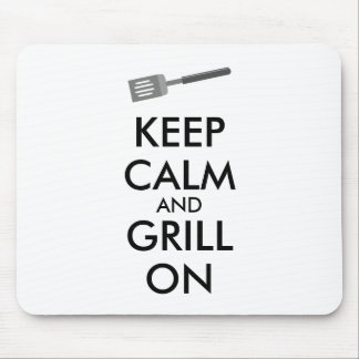 Grilling Keep Calm and Grill On Barbecue Spatula Mousepad