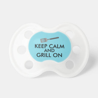Grilling Keep Calm and Grill On Barbecue Spatula Pacifier