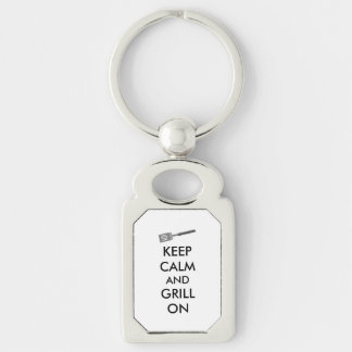 Grilling Keep Calm and Grill On Barbecue Spatula Key Chain