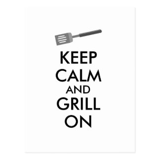 Grilling Keep Calm and Grill On Barbecue Spatula Postcard