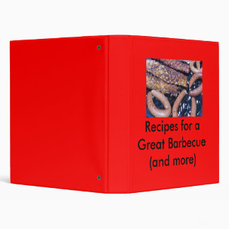 Grilling Meat 266, Barbecue Recipes 3 Ring Binder